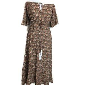 Earthbound Boho Maxi Dress